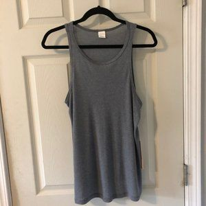 NWT Sun and Shadow Ribbed Heather Gray Tank Top